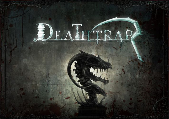 DEATHTRAP action adventure rpg strategy tower defense fighting fantasy dragon poster wallpaper