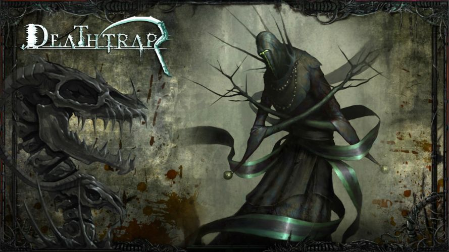 DEATHTRAP action adventure rpg strategy tower defense fighting fantasy poster warrior wallpaper
