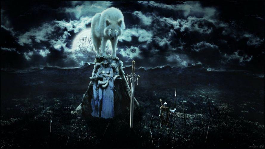dark souls wolf fantasy wallpaper