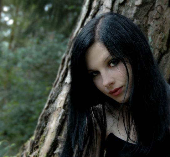 goth gothic dark girl babe wallpaper