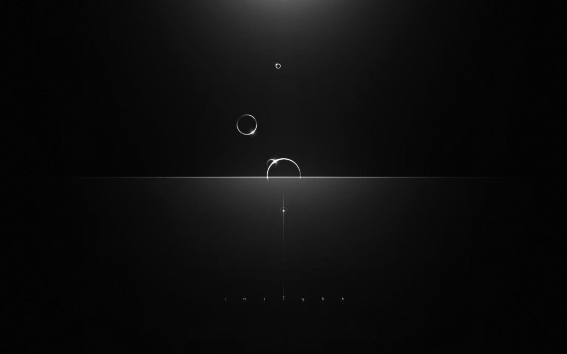 gray minimalism circles reflections light dark wallpaper