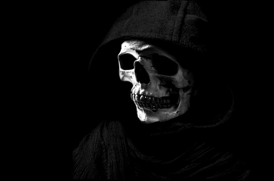 Gray The Skull Bones Purple Scary Abstract Reaper Wallpaper