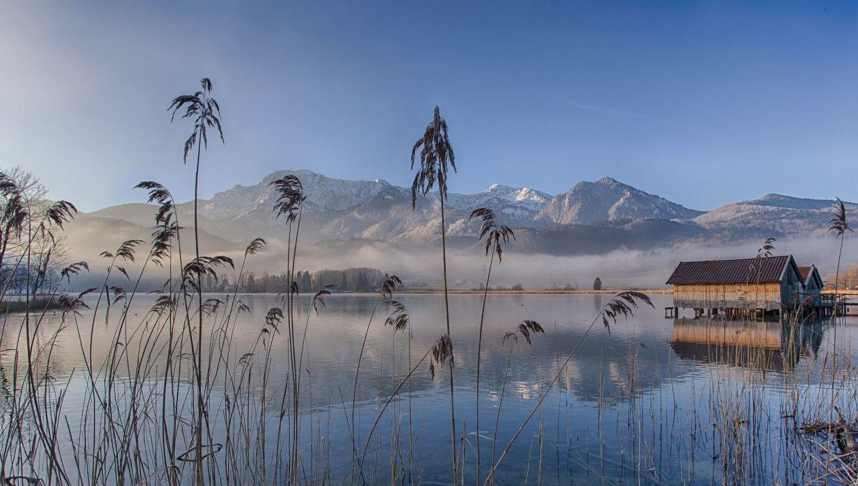 germany lake lake eichsee bavaria wallpaper