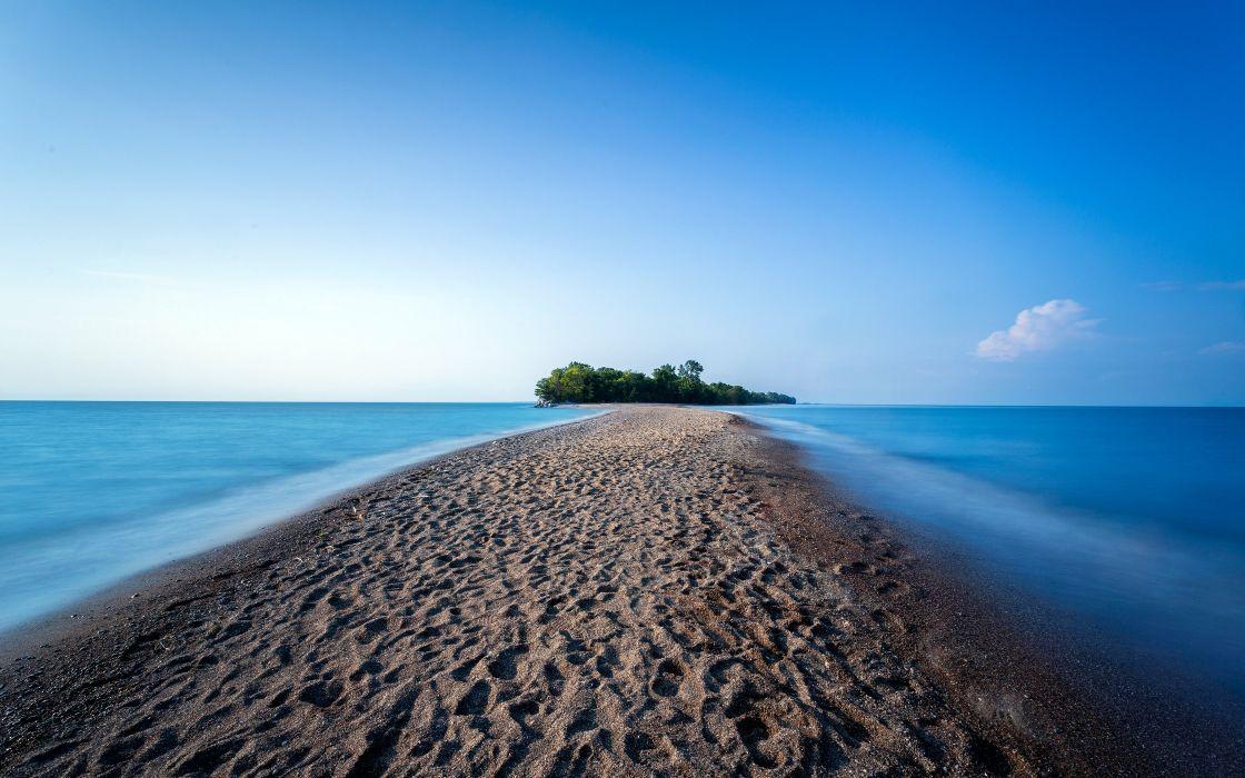 ocean island point pelee provincial park ontario beach wallpaper