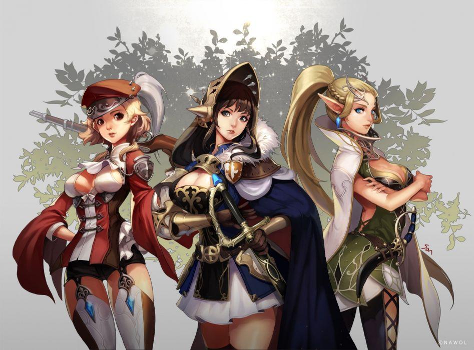 Anime Girls Warrior wallpaper