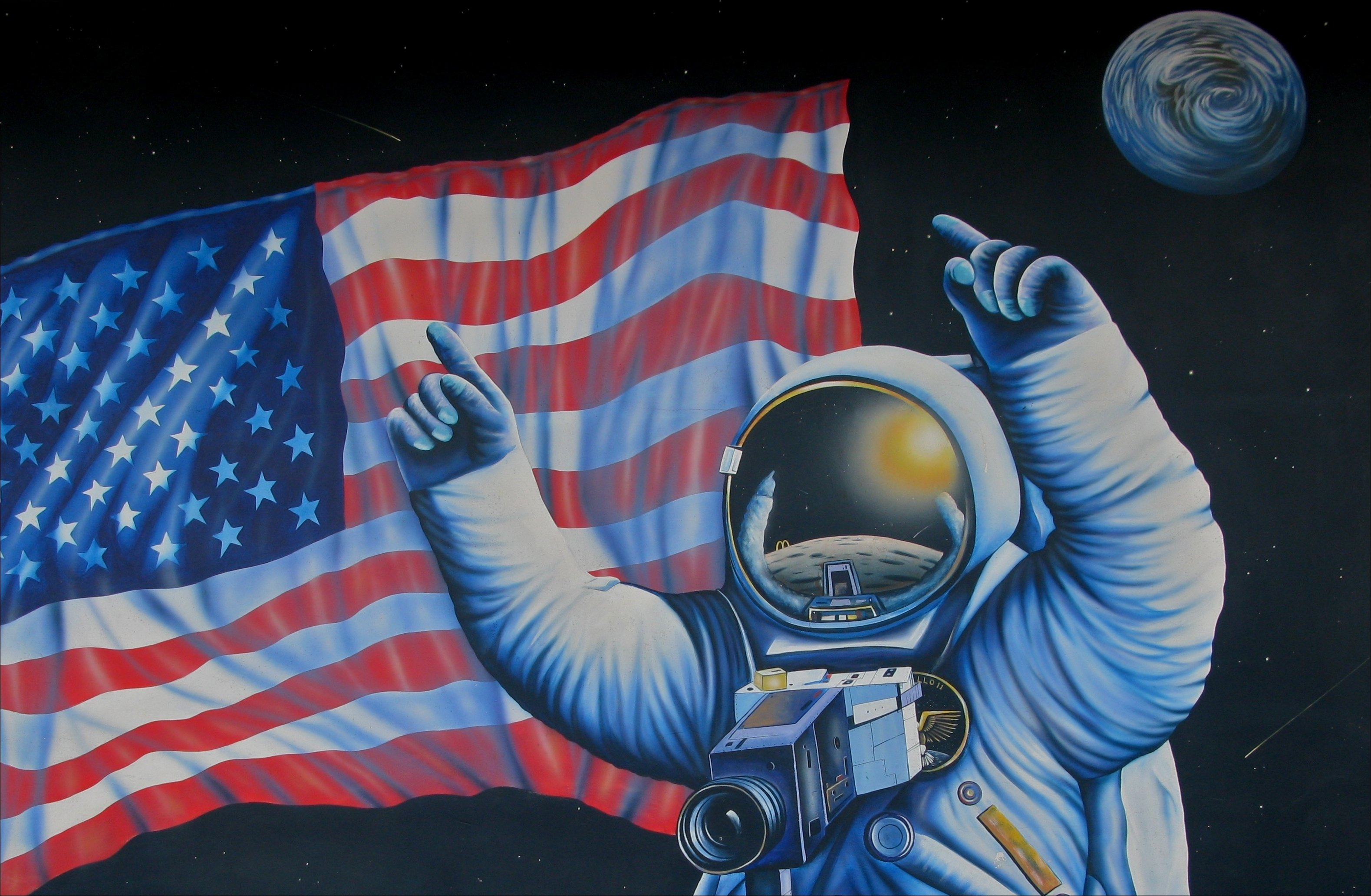 astronaut in space painting - photo #20