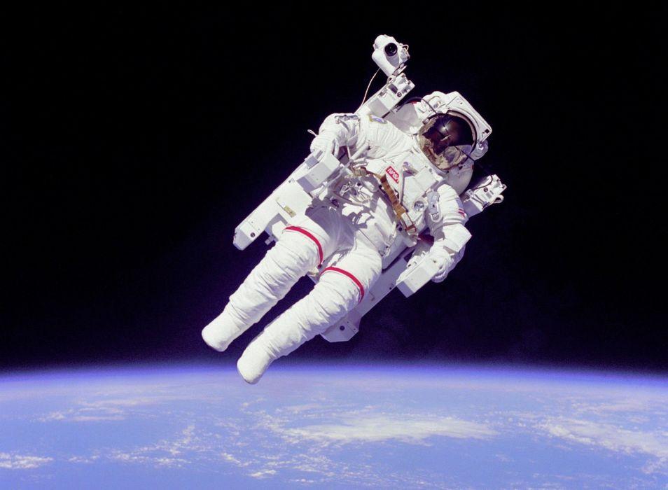 Astronaut Nasa Space Sci Fi Planet Earth Wallpaper