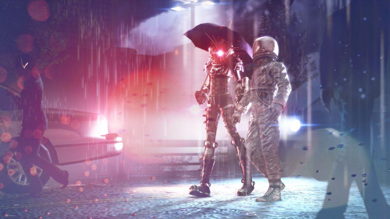 astronaut nasa space sci-fi robot cyborg wallpaper