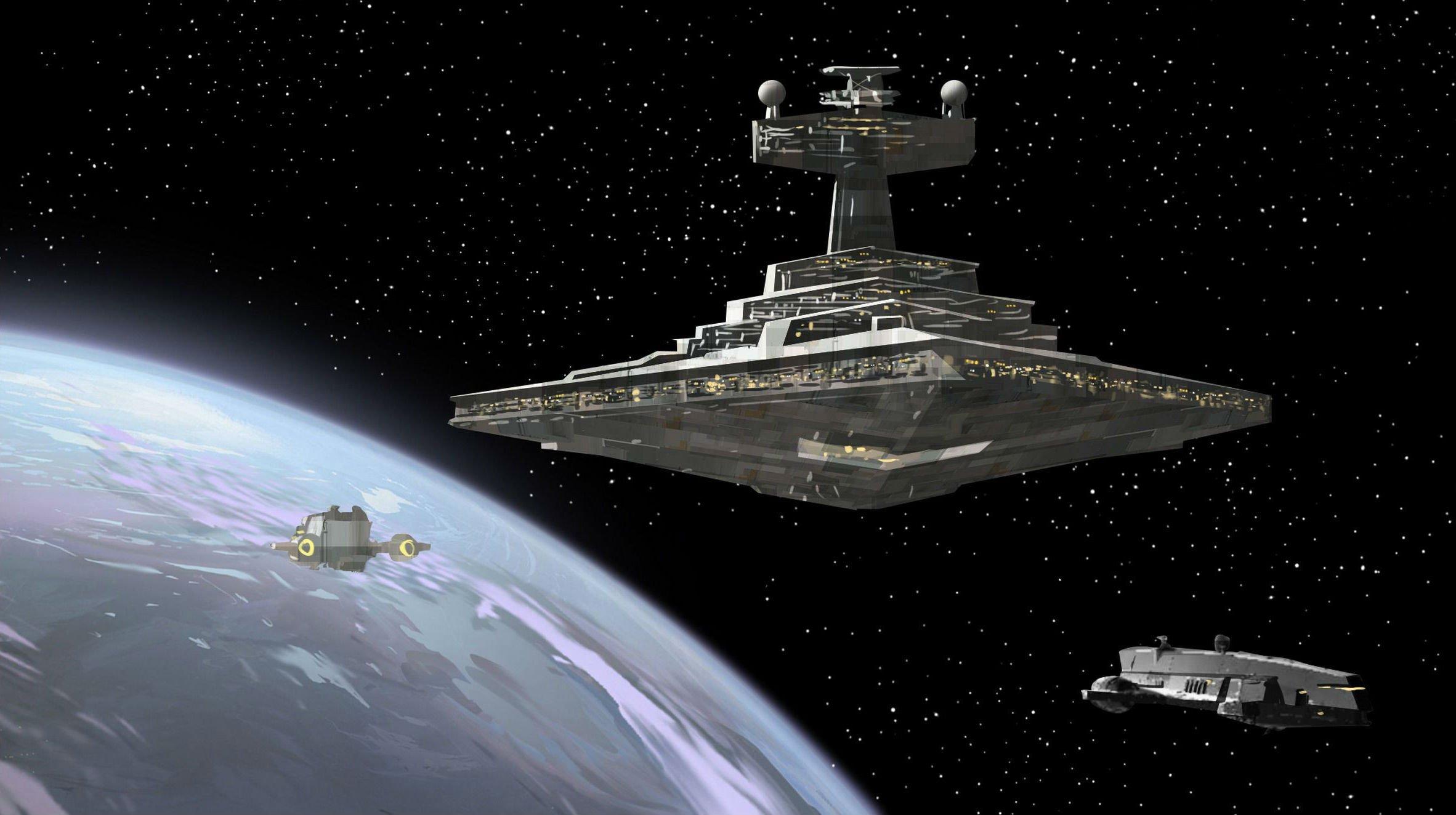 Star Destroyer Star Wars Spaceship Sci Fi Space Wallpaper