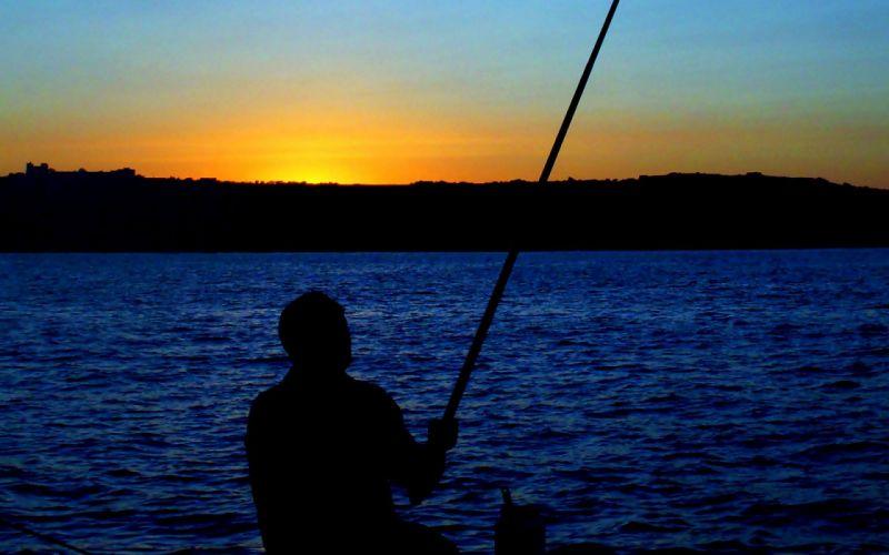 FISHING fish sportssunrise sunset wallpaper