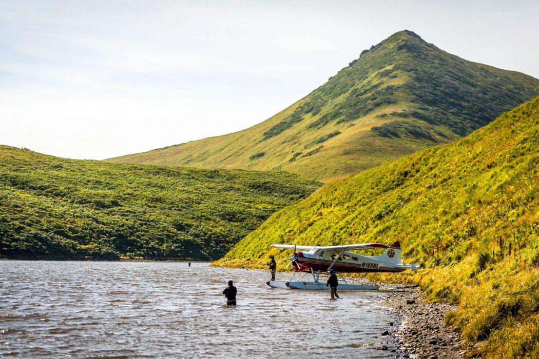 FISHING fish sports sunset sunrise river lake wallpaper