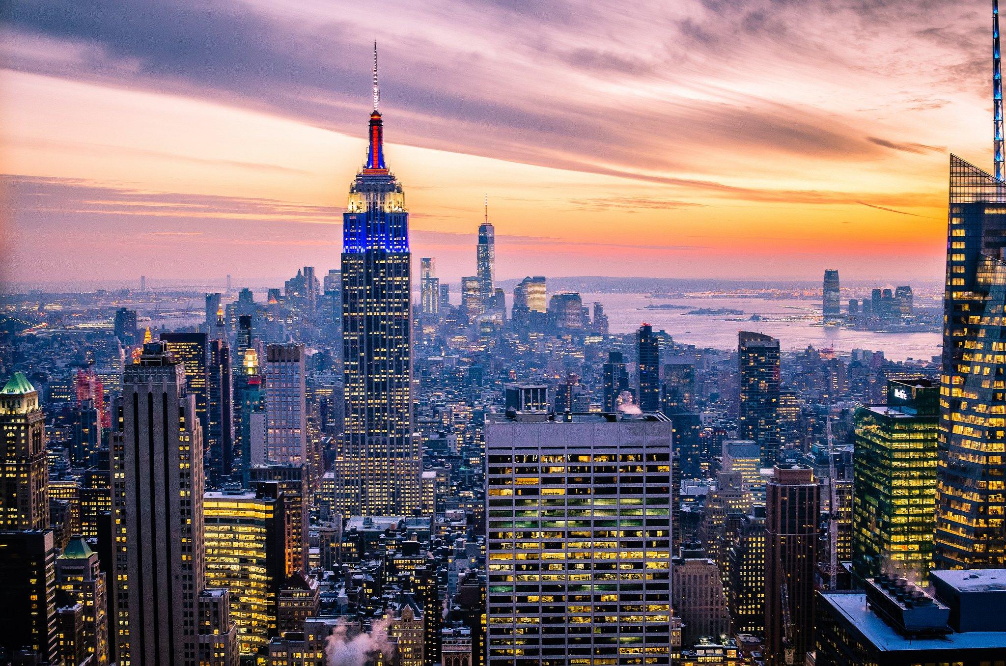 New york usa manhattan empire state building new york usa for Sfondi new york hd