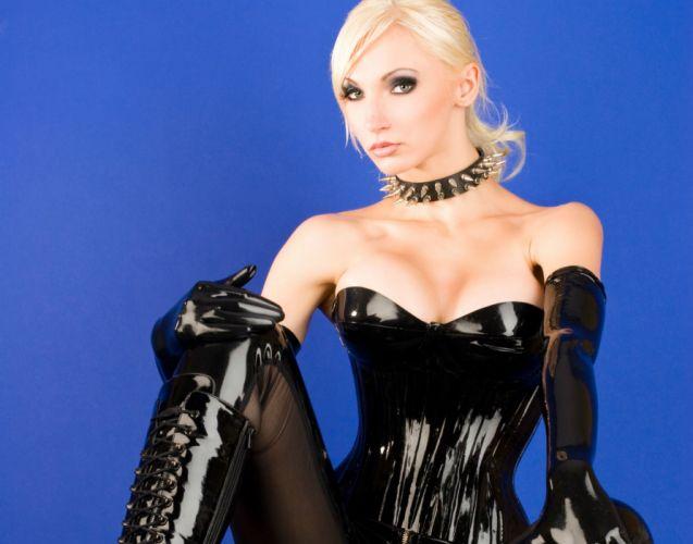 SUSAN WAYLAND fetish latex sexy babe blonde wallpaper