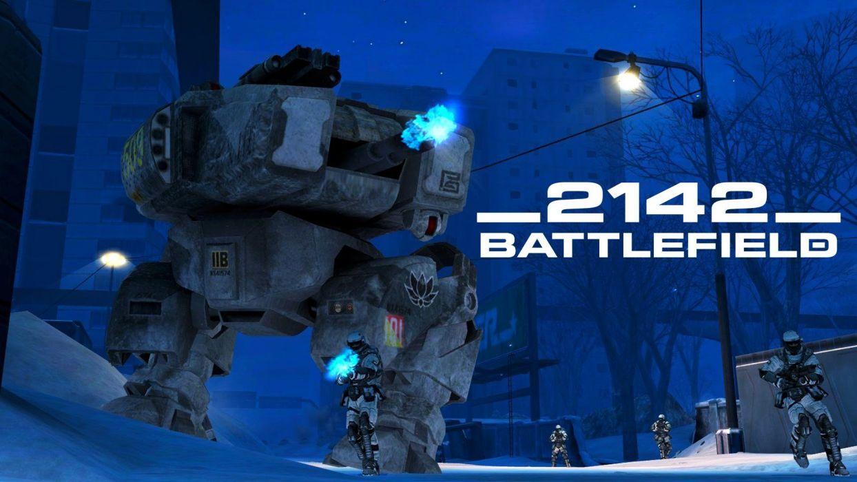 BATTLEFIELD 2142 fps shooter sci-fi online futuristic BF2142 fighting mecha warrior war wallpaper