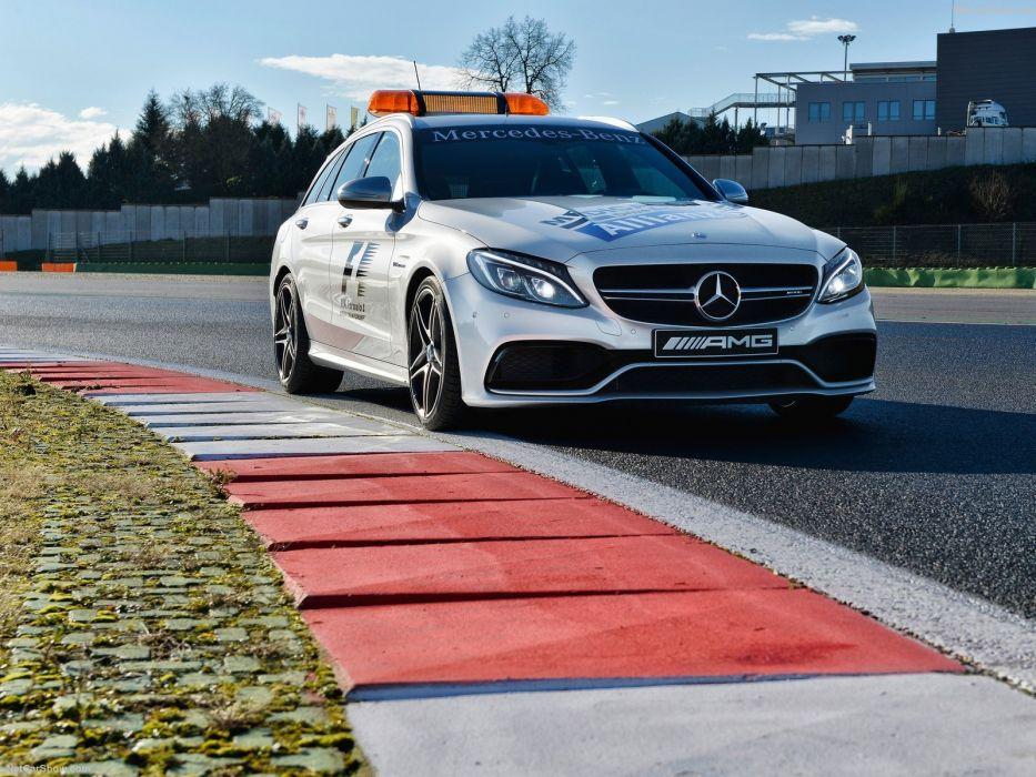 Mercedes Benz C63 S AMG Estate wagon formula one 2015 Medical Cars wallpaper
