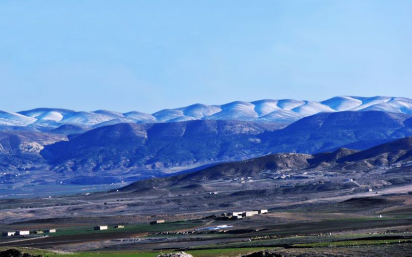landscapes mountains countryside town hills houses snow winter Fields nature algeria africa north chaoui amazigh wallpaper