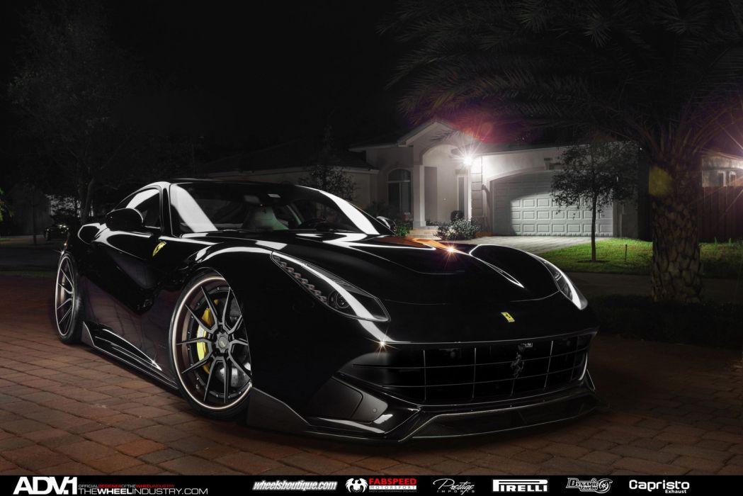 2015 Adv1 wheels ferrari f12 tuning black supercars cars wallpaper