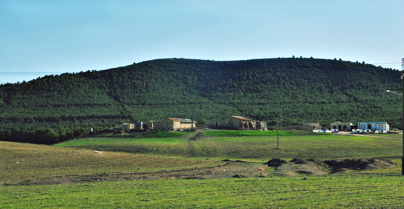 africa algeria amazigh chaoui countryside fields hills houses landscapes mountains nature North Winter wallpaper