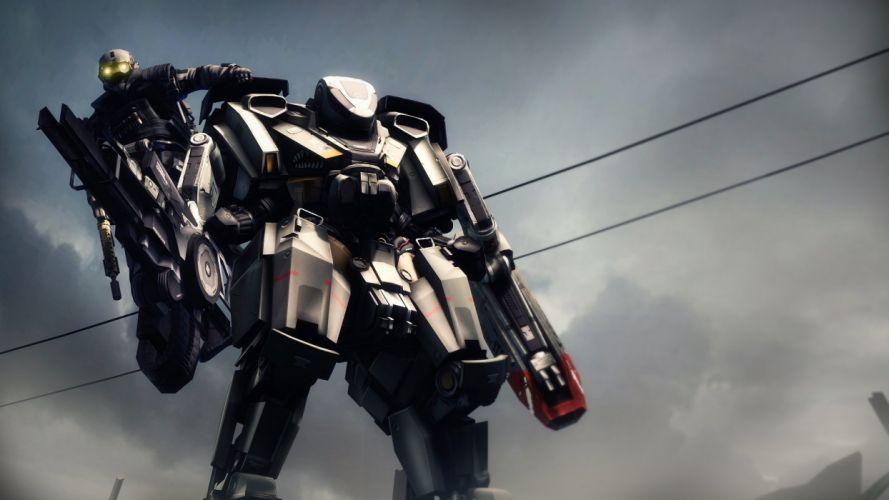 BLACKLIGHT RETRIBUTION sci-fi fps shooter action fighting futuristic 1bret cyberpunk military wallpaper
