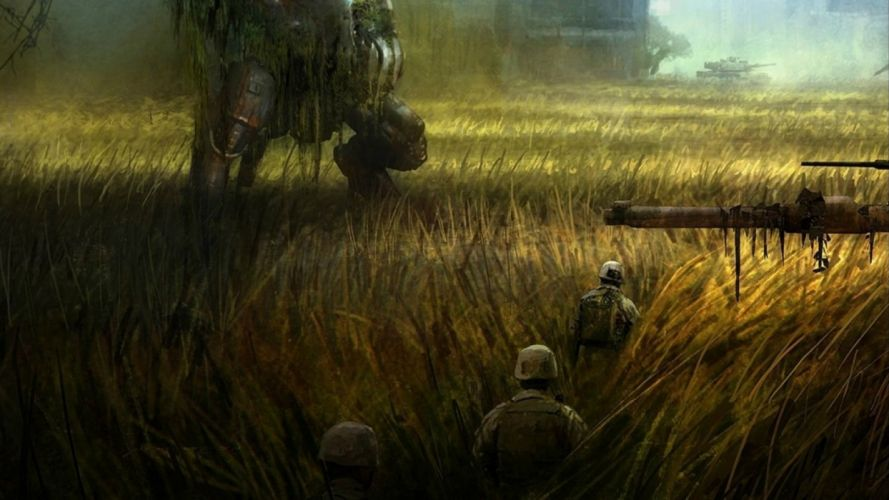 CRYSIS sci-fi fps shooter action fighting futuristic sandbox military warrior armor weapon war mecha wallpaper