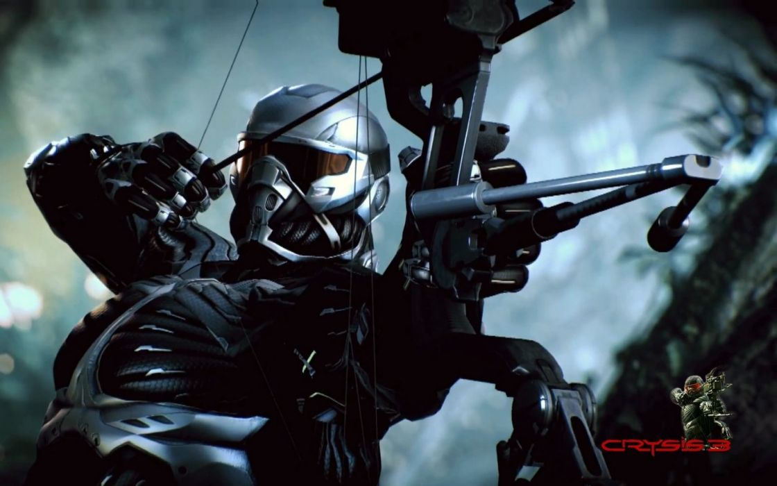 CRYSIS sci-fi fps shooter action fighting futuristic sandbox military warrior armor weapon war wallpaper