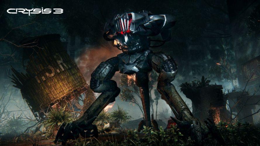 CRYSIS sci-fi fps shooter action fighting futuristic sandbox military warrior armor weapon war mecha wallpaper