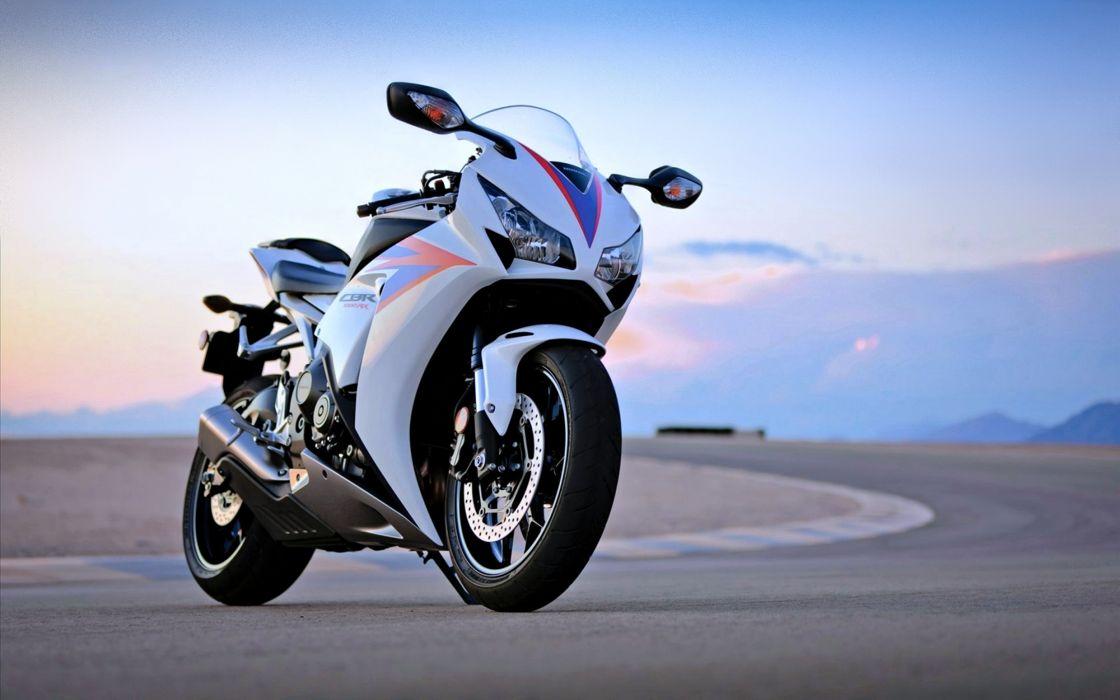 Honda Cbr 1000 RR Motorcycles motors Race S1000 Speed Sport super road white wallpaper