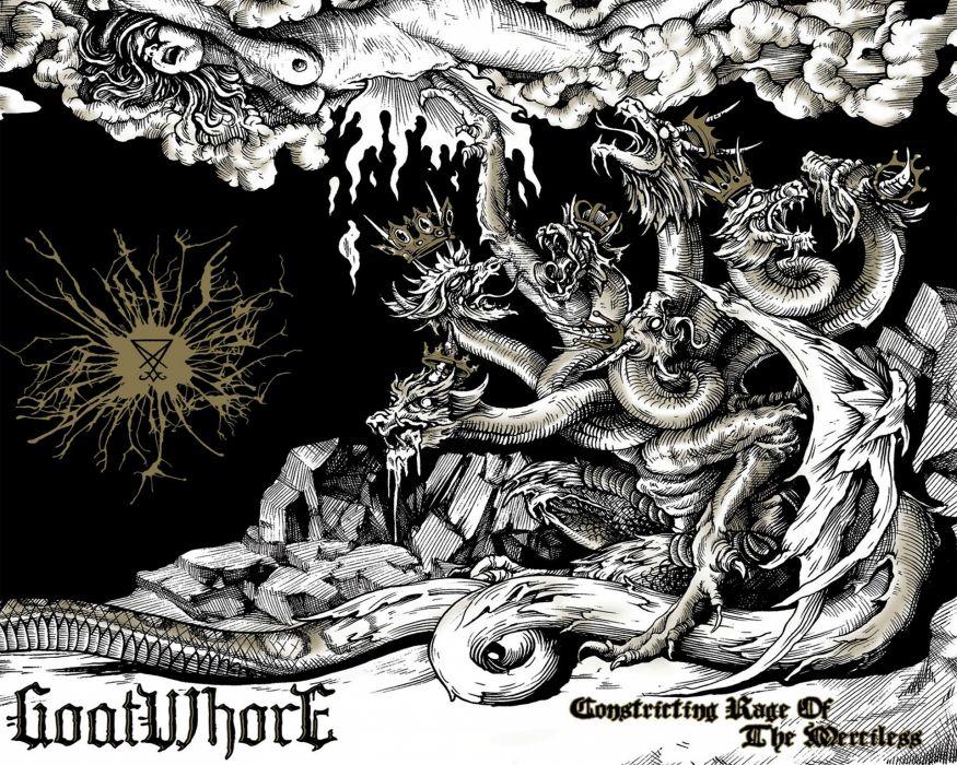 GOATWHORE black death metal heavy thrash dark evil reaper skull poster wallpaper