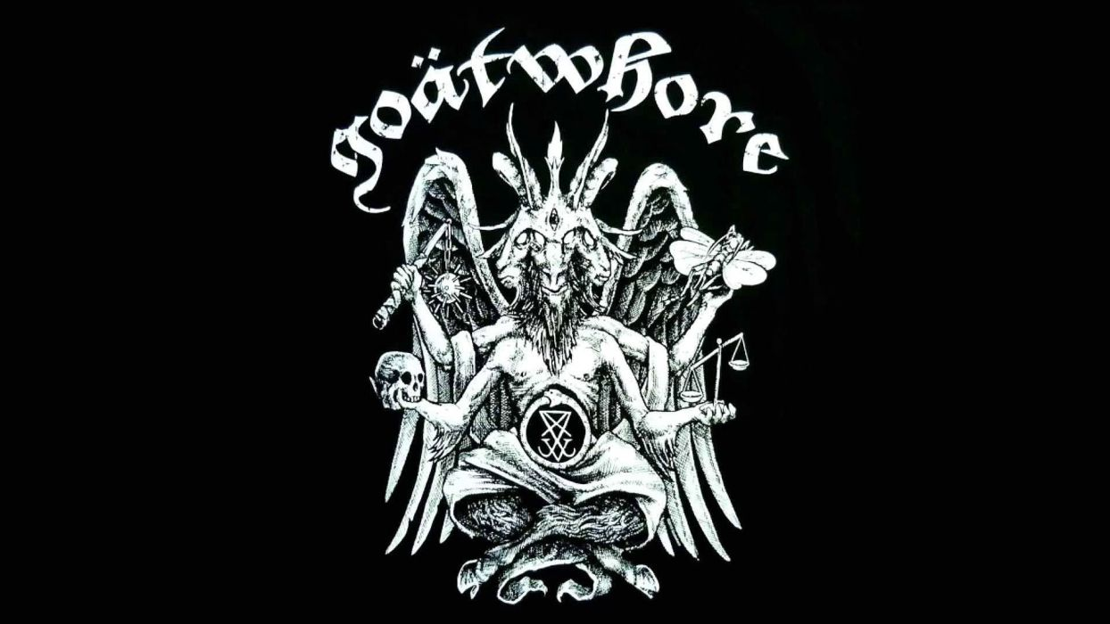 GOATWHORE black death metal heavy thrash dark evil reaper skull poster wallpaper