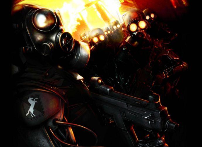 JOB FOR A COWBOY death metal heavy deathcore 1jfac dark gas mask anarchy apocalyptic wallpaper