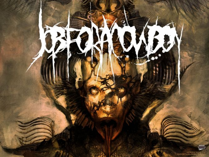 JOB FOR A COWBOY death metal heavy deathcore 1jfac dark occult satanic evil satan demon skull wallpaper