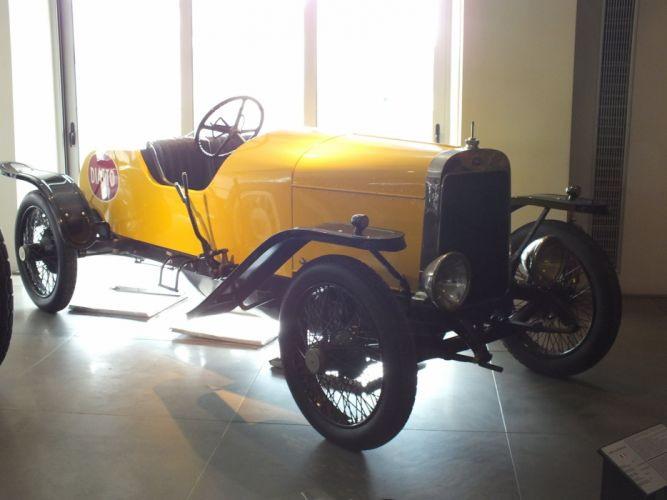 1919 cars Diatto Tipo 4DA Sports retro yellow wallpaper