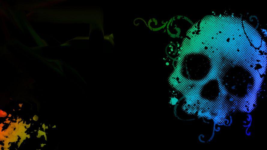 background - Dark - sign - skull - wall wallpaper