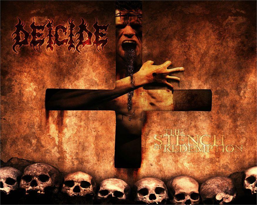 DEICIDE death metal heavy satanic dark evil cross skull wallpaper