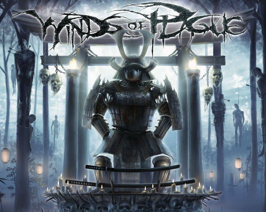 WINDS OF PLAGUE deathcore symphonic heavy metal black experimental rap rapper 1wop warrior demon dark poster skull wallpaper