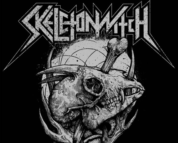 SKELETONWITCH black thrash metal heavy 1switch skull dark evil demon poster wallpaper