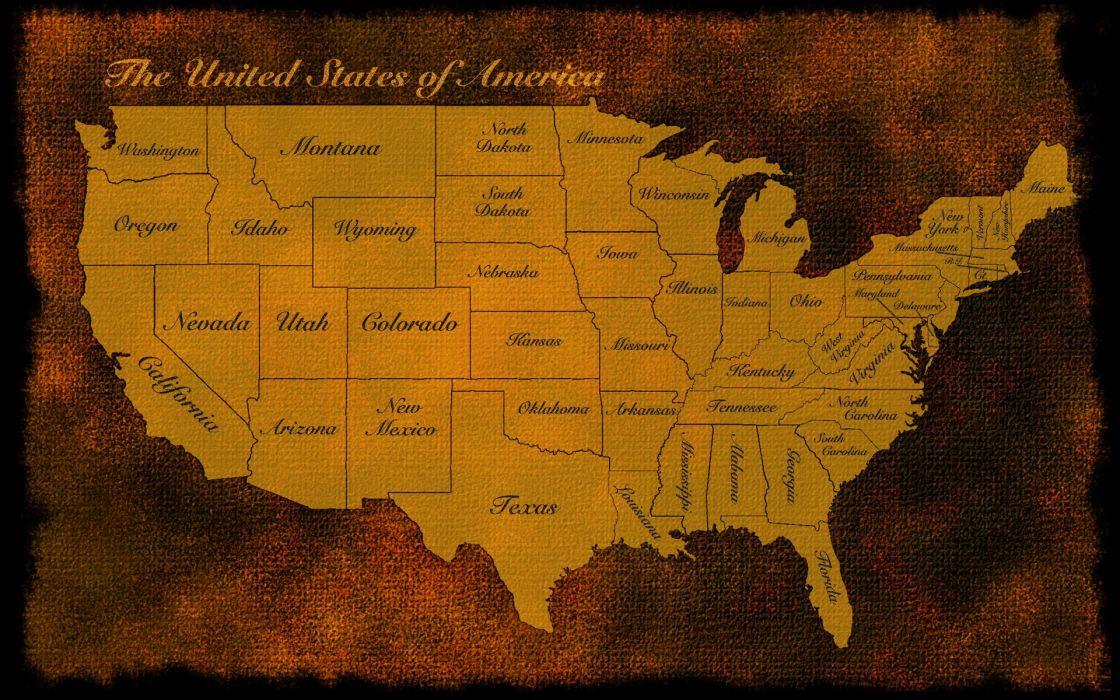 usa us map america old rustic states patriotic wallpaper