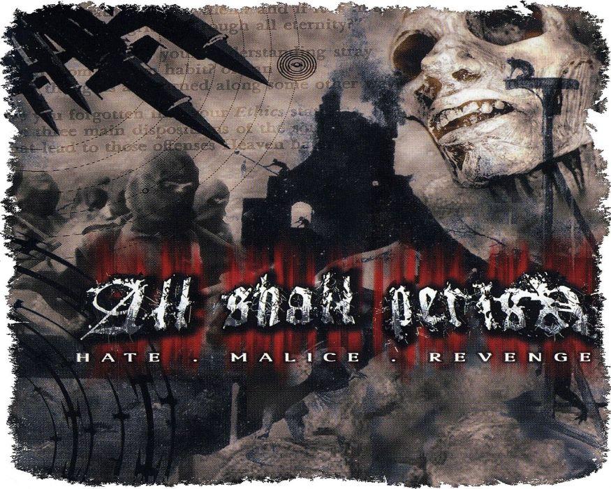 ALL SHALL PERISH deathcore heavy metal 1asp dark evil poster wallpaper