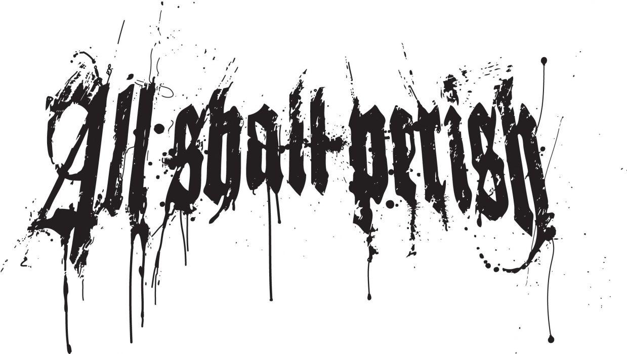 ALL SHALL PERISH deathcore heavy metal 1asp poster wallpaper