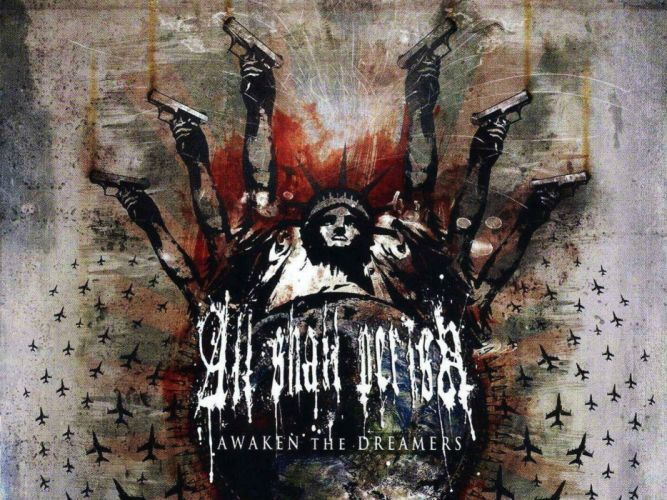 ALL SHALL PERISH deathcore heavy metal 1asp dark evil poster wallpaper