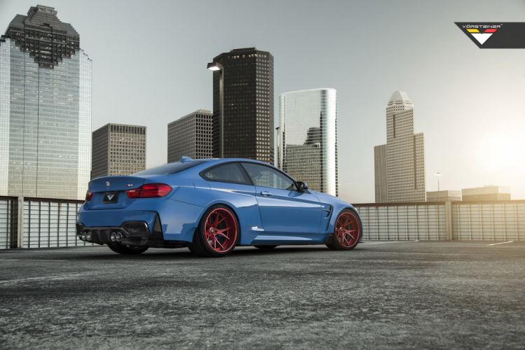 Vorsteiner BMW F82 M 4 GTRS4 Yas Marina Blue tuning cars 2015 wallpaper