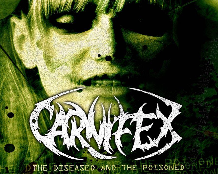 CARNIFEX deathcore heavy metal 1carn death symphonic dark evil wallpaper