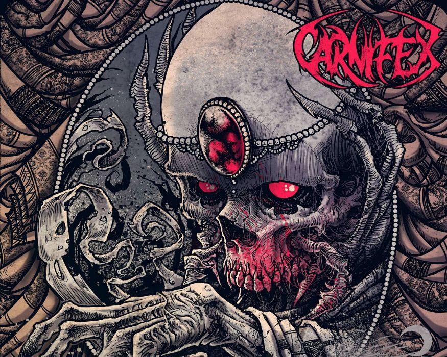 CARNIFEX deathcore heavy metal 1carn death symphonic dark evil skull blood poster wallpaper