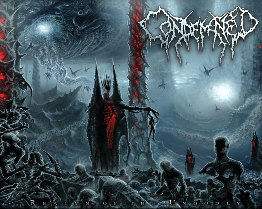 CONDEMNED death metal heavy deathgrind poster dark evil occult satanic wallpaper