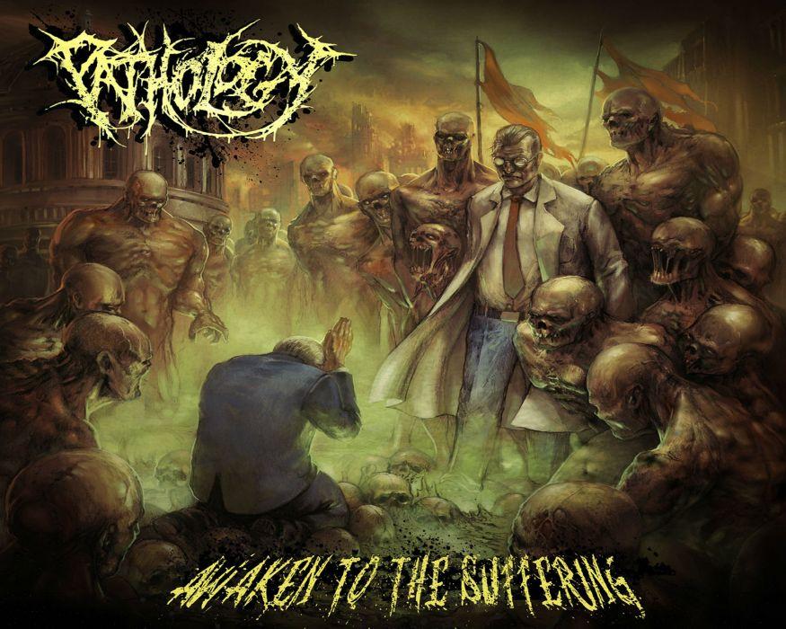 PATHOLOGY death metal heavy dark evil skull demon wallpaper