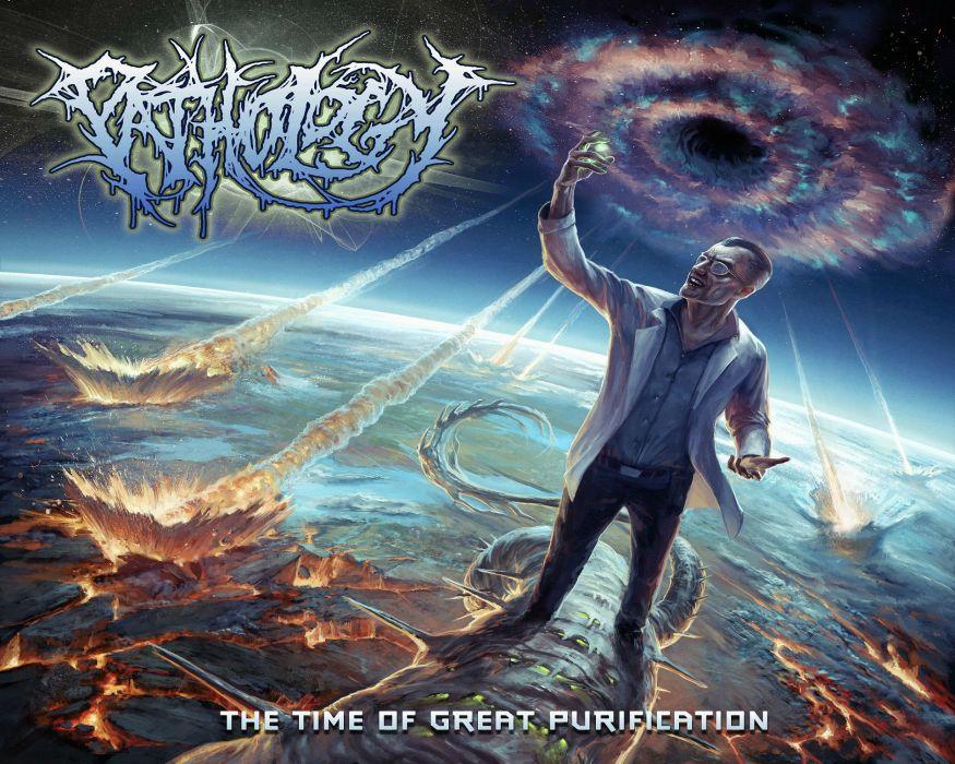 PATHOLOGY death metal heavy dark evil skull demon apocalyptic satan wallpaper