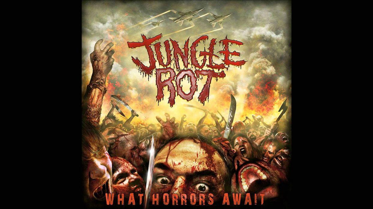 JUNGLE ROT death metal heavy thrash 1jrot dark evil blood skull poster wallpaper