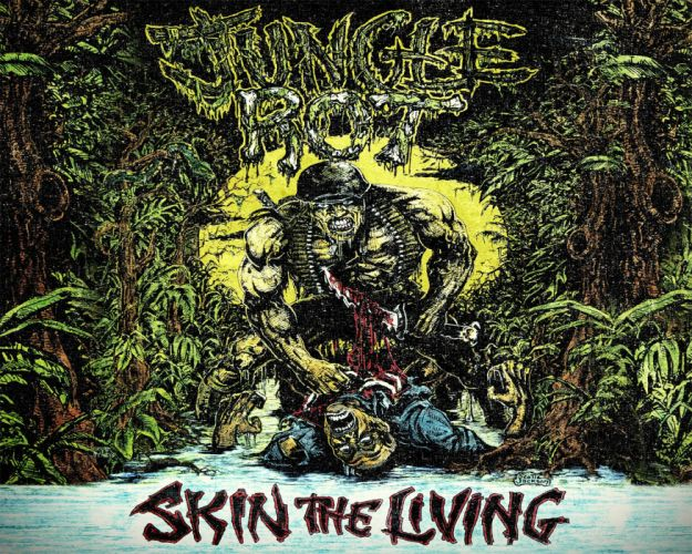 JUNGLE ROT death metal heavy thrash 1jrot dark evil blood skull violence poster wallpaper