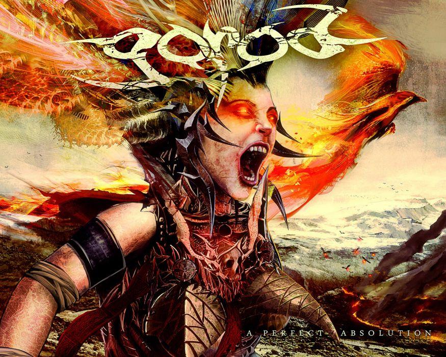 GOROD technical death metal heavy demon satanic fire evil wallpaper