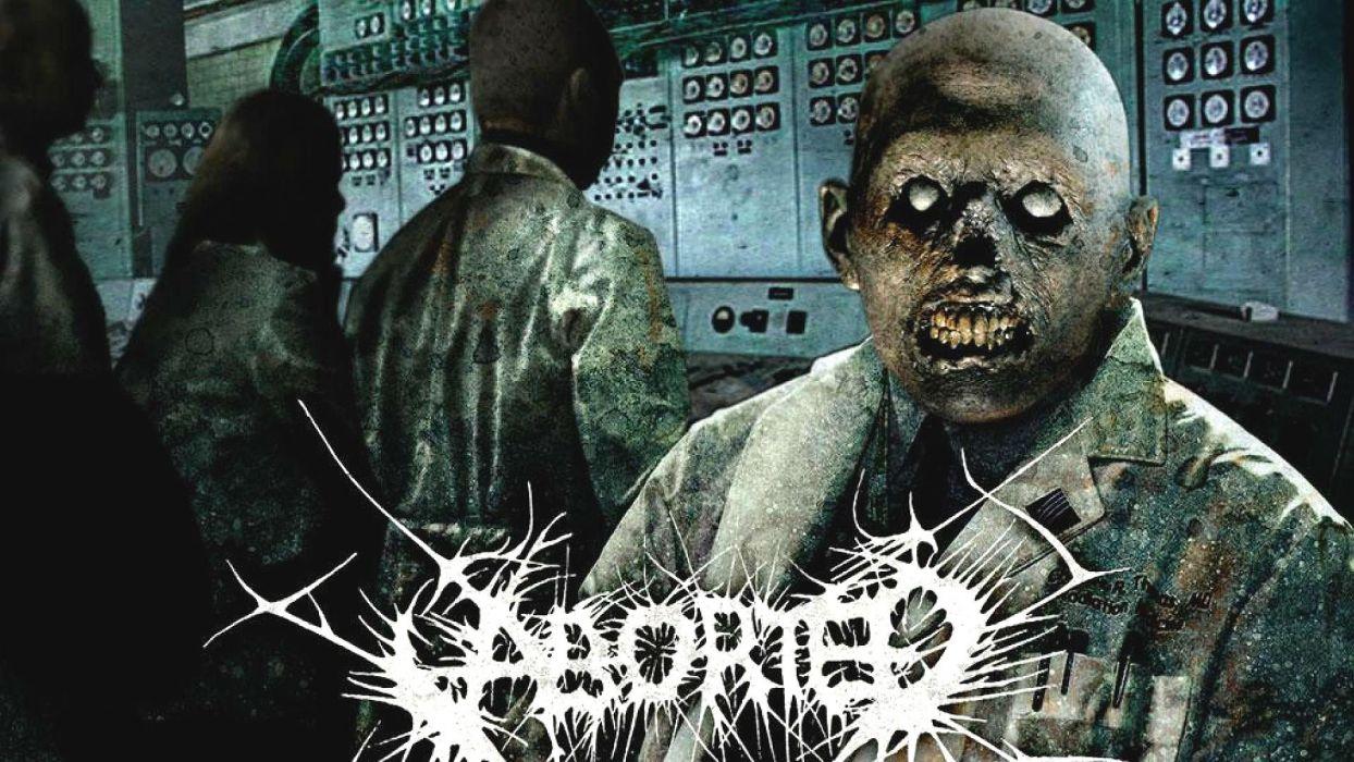 ABORTED death metal heavy grindcore demon dark evil zombie poster wallpaper